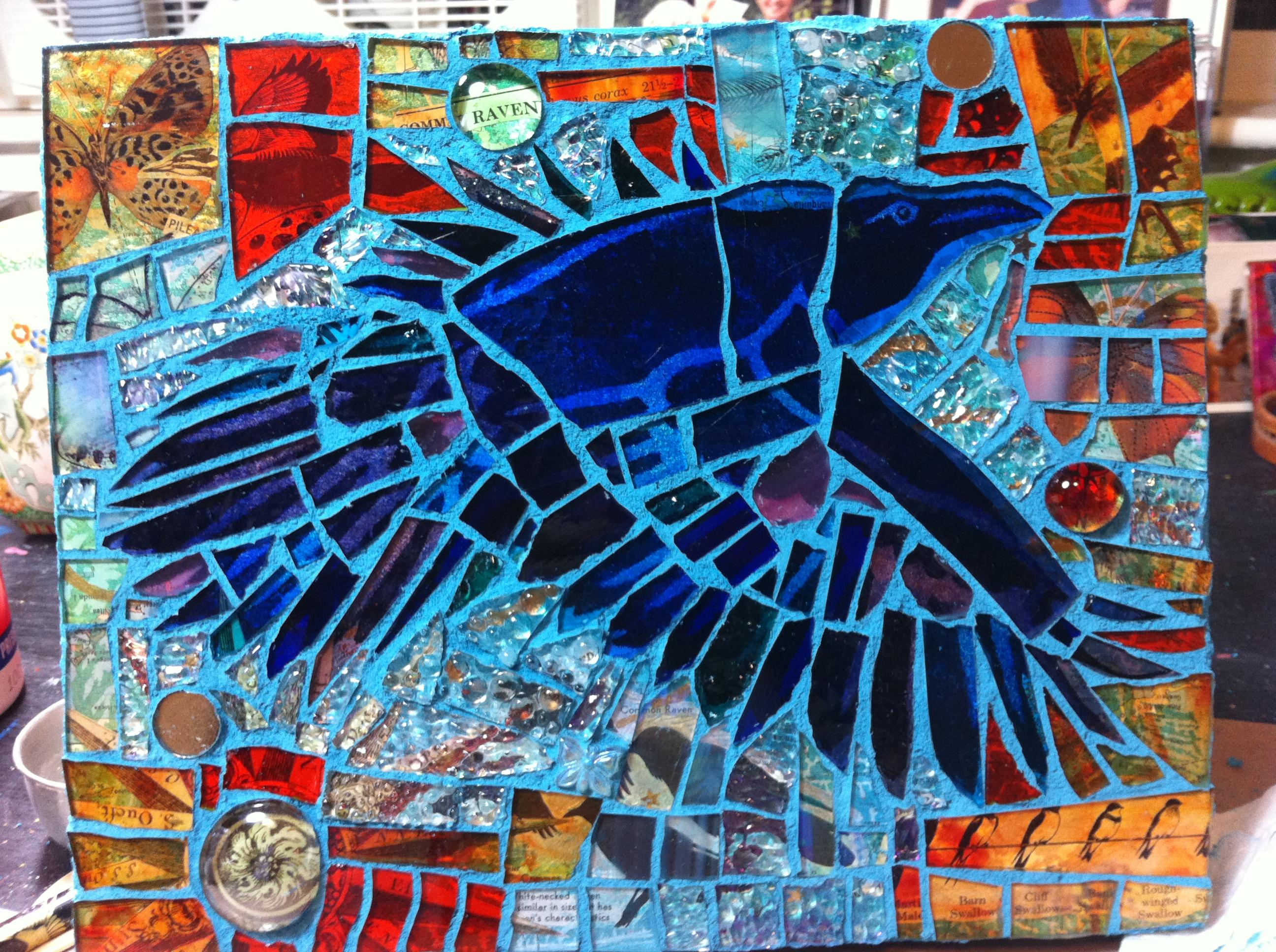 Glass Mosaic Making Painted Moon Studio Liisa Laakso