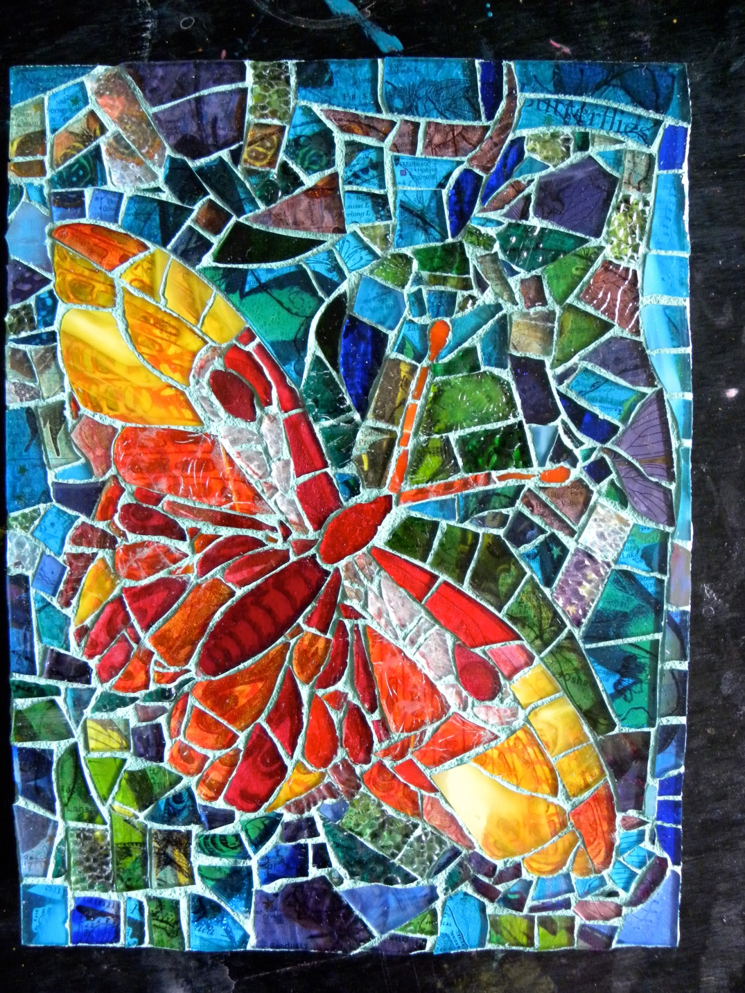 Glass Butterfly Mosaic