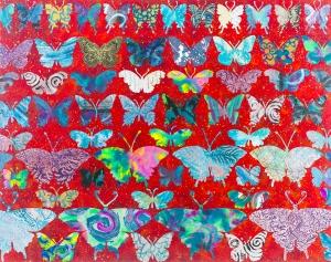 """Red Butterflies 22 X 28"""""""